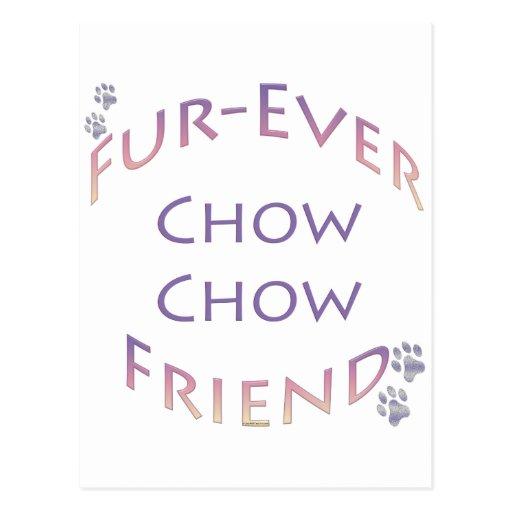 Perro chino de perro chino Furever Tarjeta Postal