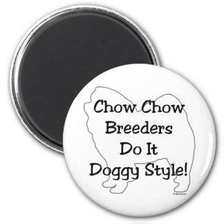 Perro chino de perro chino imán redondo 5 cm