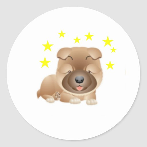Perro chino de perro chino inmóvil pegatinas