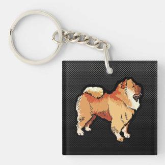 Perro chino de perro chino liso llaveros