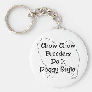 Perro chino de perro chino llavero redondo tipo pin