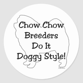 Perro chino de perro chino pegatina redonda