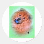 Perro chino de perro chino pegatinas