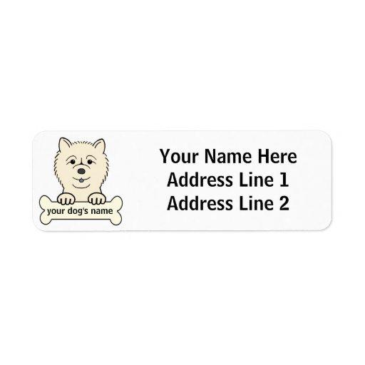 Perro chino de perro chino personalizado etiqueta de remite
