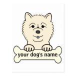 Perro chino de perro chino personalizado postal
