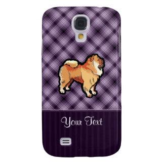 Perro chino de perro chino púrpura carcasa para galaxy s4