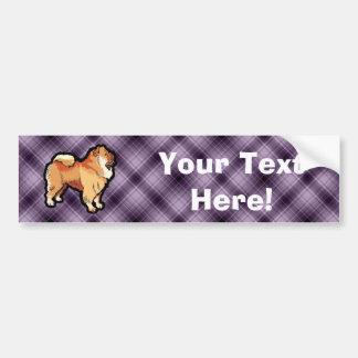 Perro chino de perro chino púrpura pegatina para auto