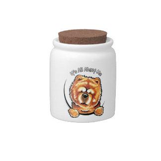 Perro chino de perro chino rojo IAAM Jarra Para Caramelo