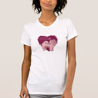 perro chino de perro chino rosado tee shirt