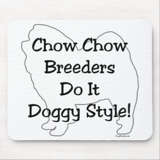 Perro chino de perro chino tapete de ratones