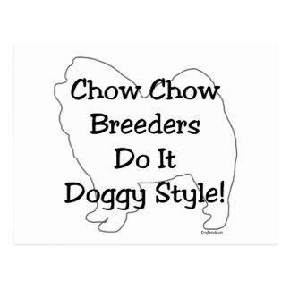 Perro chino de perro chino tarjeta postal