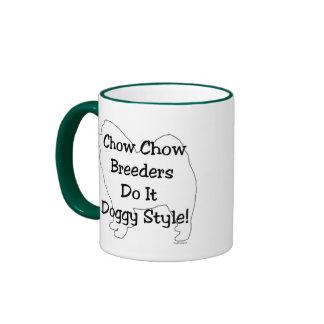 Perro chino de perro chino taza de dos colores