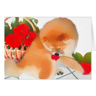 Perro chino del heARTdog de RENY Tarjeton