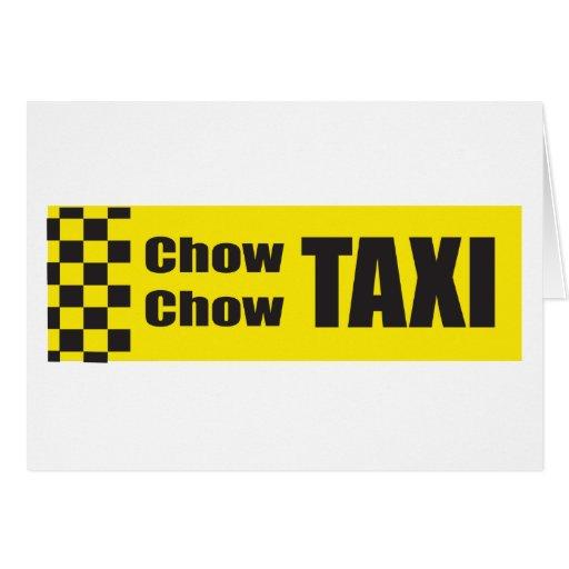 Perro chino del taxi tarjeta de felicitación
