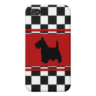 Perro clásico de Terrier del escocés de los años 5 iPhone 4 Cárcasa