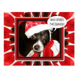 Perro claveteado de la yema postal
