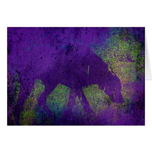 Perro colorido tarjeta de felicitación