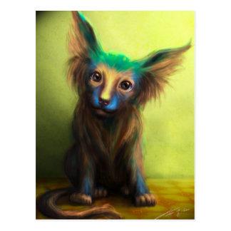 Perro colorido postal
