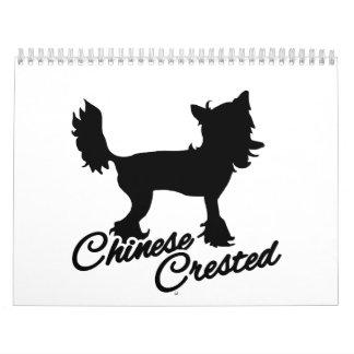 Perro con cresta chino calendario