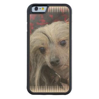 Perro con cresta chino funda de iPhone 6 bumper arce