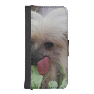 Perro con cresta chino funda tipo cartera para iPhone 5