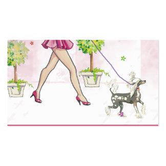 Perro con cresta chino gallardo tarjetas de visita