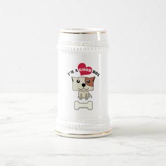 Perro con el corazón mug3 jarra de cerveza