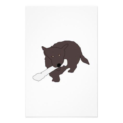 Perro con el hueso  papeleria de diseño