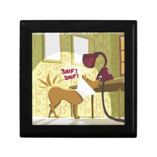 Perro Conehead divertido Cajas De Recuerdo