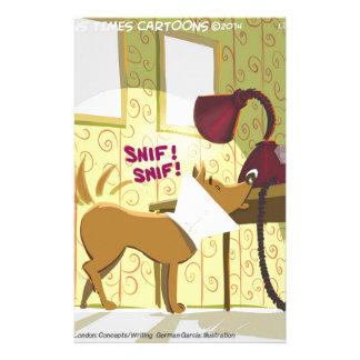 Perro Conehead divertido Papelería Personalizada