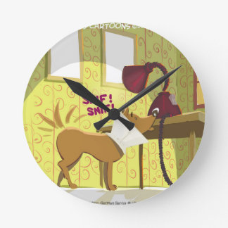 Perro Conehead divertido Reloj De Pared