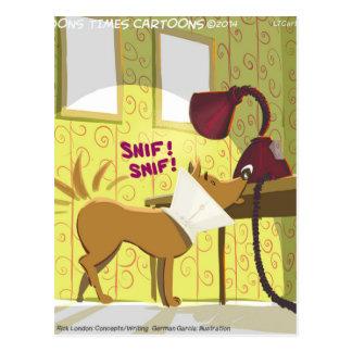 Perro Conehead divertido Tarjeta Postal