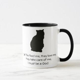 Perro contra gato taza