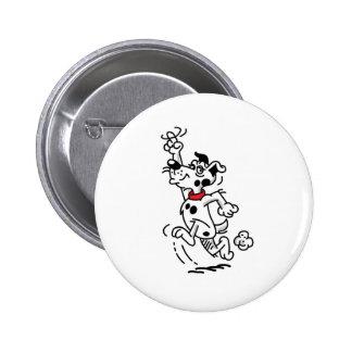 Perro corriente pin redondo 5 cm