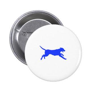 Perro corriente pin redondo de 2 pulgadas