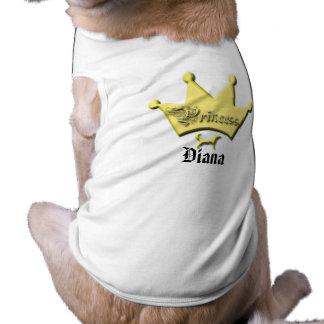 Perro curvado Princesa-Fornido o grande de la cola Playera Sin Mangas Para Perro