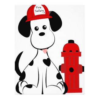 "Perro dálmata del fuego folleto 8.5"" x 11"""