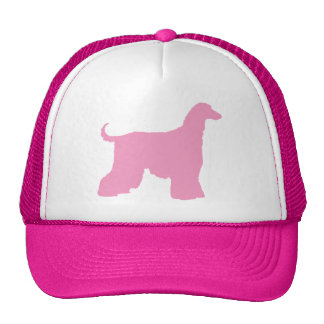 Perro de afgano rosado gorras