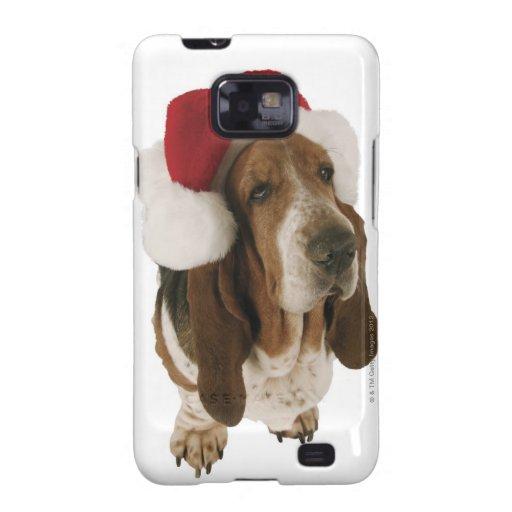 Perro de afloramiento en el gorra de Santa Samsung Galaxy S2 Funda