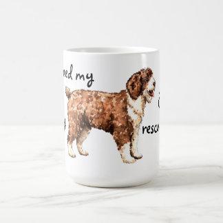 Perro de agua español del rescate taza clásica