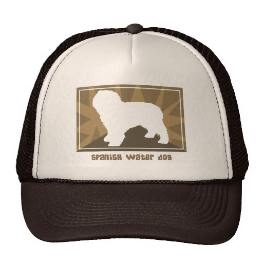 Perro de agua español terroso gorras