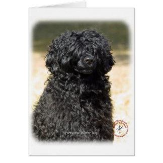 Perro de agua portugués 9R016D-151 Tarjeta De Felicitación