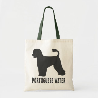 Perro de agua portugués bolsa lienzo