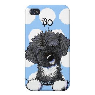 Perro de agua portugués de BO Obama iPhone 4 Carcasas