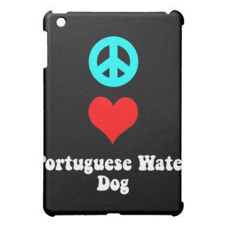 perro de agua portugués del amor de la paz