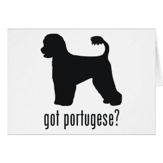 Perro de agua portugués tarjeta de felicitación