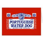 Perro de agua portugués tarjetas
