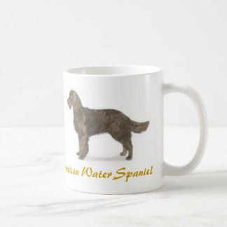 ¡Perro de aguas de agua americana, amante del Taza
