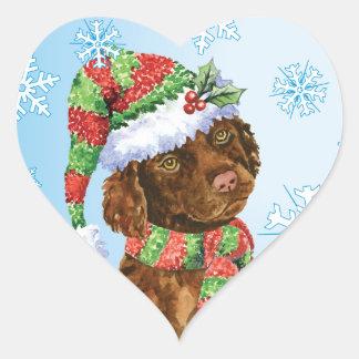 Perro de aguas de agua irlandesa feliz de Howliday Pegatina En Forma De Corazón