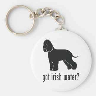 Perro de aguas de agua irlandesa llavero redondo tipo pin